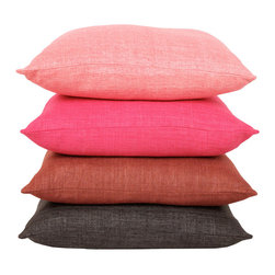 Raw Silk Pillows - How can you deny the appeal of this color palette? I want a pile of these cushions littering my couch. Sadly, my husband might not feel the same. But I think that russet color near the bottom my be a shade we can both agree upon.