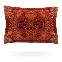 """Kess InHouse - Nikposium """"Sedona"""" Orange red Pillow Sham (Cotton, 30"""" x 20"""") - Pairing your already chic duvet cover with playful pillow shams is the perfect way to tie your bedroom together. There are endless possibilities to feed your artistic palette with these imaginative pillow shams. It will looks so elegant you won't want ruin the masterpiece you have created when you go to bed. Not only are these pillow shams nice to look at they are also made from a high quality cotton blend. They are so soft that they will elevate your sleep up to level that is beyond Cloud 9. We always print our goods with the highest quality printing process in order to maintain the integrity of the art that you are adeptly displaying. This means that you won't have to worry about your art fading or your sham loosing it's freshness."""