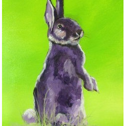 Harvey (Original) by Gary Bilodeaux - This is a great piece inspired by the Jimmy Stewart rabbit Harvey. I love the colors and whimsy. I hope you do too.