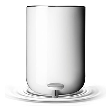 MENU - Pedal Bin, White - A pedal bin simply makes sense in a bathroom. Best to keep trash covered and out of sight, right? This one offers a sleek style that's also utterly functional, which is exactly what you want when it comes to trash bin design.