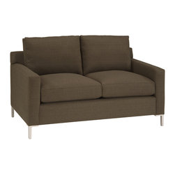Lazar Industries - Soho Loveseat in Random Mink - Soho Loveseat:  Lazar's most popular and customizable stlye, the Soho offers modern luxury in a compact package.