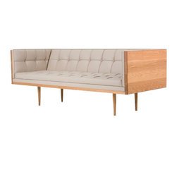 Autoban TR - Box Sofa - Medium, White Oiled American White Oak - A very different sofa that takes its inspiration from the 1950's modernist movement. This was a wooden box before Autoban's intervention, that transformed it into the purest shape for sitting. Products are made to order so longer lead times should be expected.
