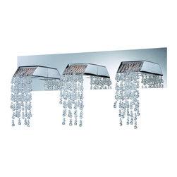 Eurofase Lighting - Eurofase Lighting 25812 Fonte 3 Light Crystal LED Bathroom Vanity Light - Features: