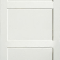 MDF Interior Door 3000 - This traditional 3-Panel style door features three same sized, horizontal panels. Strong and beautiful, this door features uncomplicated style, quality and attention to detail. Because it is designed to stand up to daily use, it won't shrink, expand or warp even when exposed to the environment. This eco-friendly door is created from recycled and recovered wood fiber. It also has a very smooth surface for painting.