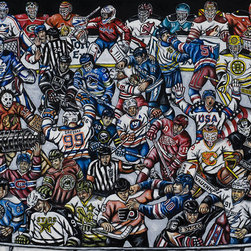 The Puck Stops Here - NHL Hockey Fan Art - A representation of the best hockey teams and players.