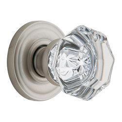 Baldwin Hardware - Baldwin Estate 5080 Fillmore Crystal  Knob Set - Satin Nickel - 5080 Product Details:
