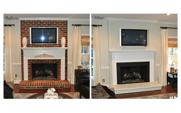 one more before and after picture of our painted brick