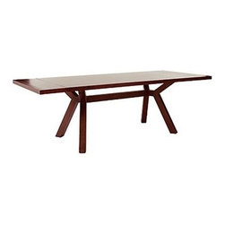 Seymour Trestle Dining Table - The best thing about trestle tables is their form. Not only does this one provide beautiful contemporary lines, the legs don't get in your way when you pull your chair up to eat.