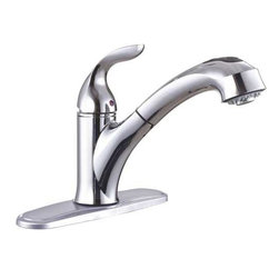 PREMIER - Premier 126969 Waterfront Lead-Free Single-Handle Kitchen Pull-Out Faucet - Features: