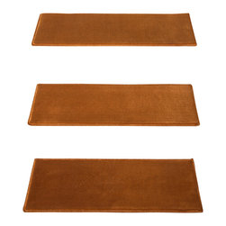 """Natural Area Rugs - """"Synergy"""" Carpet Stair Treads, 9"""" x 29"""" (Set of 13) w/ 29"""" x 40"""" Landing Mat - Crafted from durable and soft Polypropylene. Helps reduce slips on your hardwood stairs. Stain & soil resistant for easy cleaning. Reduces noise and wear and tear on your hardwood stairs. Adds subtle sophistication to any decor. Serged border egdes are finished with matching colored yarn. 29"""" x 40"""" Landing Mat Sold Separately. For installation, use """"intertape"""" double-sided heavy duty carpet tape or use carpet nails/tacks.  Each set contains 13 pieces."""