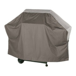 Char-Broil 65 in. NLV Grill Cover - Tan - About Char-BroilChar-Broil is a widely known producer of premium outdoor cooking products ranging from the finest stainless steel outdoor grills to the equally important spatula. Each of their products is crafted with care and precision keeping in mind the exacting standards of their customers. Their products span a huge array of selection and price ranges; chances are they've got a product with you in mind. Founded in 1948 Char-Broil's vast product line includes just about every kind of cooking apparatus imaginable. Whether it's barbecue straight grilling smoking or frying products you're looking for or a nice outdoor fireplace you can't go wrong with a Char-Broil.