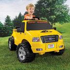 Fisher-Price - Fisher-Price Power Wheels Lil F150 Truck Battery Powered Riding Toy - X0069 - Shop for Tricycles and Riding Toys from Hayneedle.com! Kids will love going on excursions in the Fisher-Price Power Wheels Lil F-150 Battery Powered Riding Toy. The finishing touches set this riding toy apart including the side-view mirrors built-in windshield and lifting hood with realistic-looking engine.