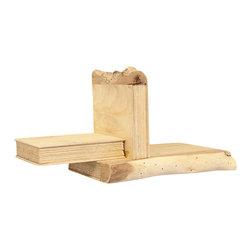 "Silver Nest - Faux ""Book"" Wooden Shelf- Set of 2- 11""h - Light Wood Lower Shelf- Set of 2"