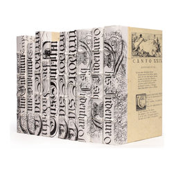 Go Home - Linear Foot of White Bold-Spenserian Books - These decorative Linear Foot of White Bold-Spenserian Books fills your shelves with the swoop and angle of the letters geometry for an eclectic, inspiring result.Book sizes may slightly vary.