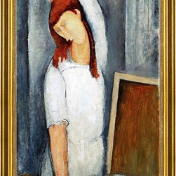 """Amedeo Modigliani-16""""x24"""" Framed Canvas - 16"""" x 24"""" Amedeo Modigliani A Coffee framed premium canvas print reproduced to meet museum quality standards. Our museum quality canvas prints are produced using high-precision print technology for a more accurate reproduction printed on high quality canvas with fade-resistant, archival inks. Our progressive business model allows us to offer works of art to you at the best wholesale pricing, significantly less than art gallery prices, affordable to all. This artwork is hand stretched onto wooden stretcher bars, then mounted into our 3"""" wide gold finish frame with black panel by one of our expert framers. Our framed canvas print comes with hardware, ready to hang on your wall.  We present a comprehensive collection of exceptional canvas art reproductions by Amedeo Modigliani."""