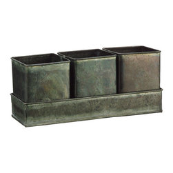 Silk Plants Direct - Silk Plants Direct Flower Shop Square Tin Pot (Pack of 10) - Silk Plants Direct specializes in manufacturing, design and supply of the most life-like, premium quality artificial plants, trees, flowers, arrangements, topiaries and containers for home, office and commercial use. Our Flower Shop Square Tin Pot includes the following:
