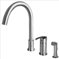 Ultra Faucets - Ultra Faucets UF11140 Faucet w/Side-Spray - Single lever handle for easy control