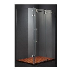 Vigo Industries - Vigo 36 x 48 in. Frameless Clear Glass Shower Enclosure - This Vigo clear shower enclosure adds a touch of elegance and luxury to any bathroom.
