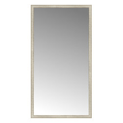 """Posters 2 Prints, LLC - 43"""" x 80"""" Libretto Antique Silver Custom Framed Mirror - 43"""" x 80"""" Custom Framed Mirror made by Posters 2 Prints. Standard glass with unrivaled selection of crafted mirror frames.  Protected with category II safety backing to keep glass fragments together should the mirror be accidentally broken.  Safe arrival guaranteed.  Made in the United States of America"""