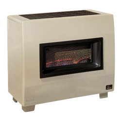 Empire - Visual Flame Room Heater RH65BLP - Liquid Propane - Empire feels that if you want a heater for your home, then why not own an item that is also capable of generating some impressive visual effects for you along the way? With the RH65B Visual Flame Gas Room Heater, you have a unit that runs off propane, and through its visual flame feature is able to create an environment that helps to take what someone might consider to be an unsightly product that has to be there to perform a task and turn it into something that is able to really enhance your home.