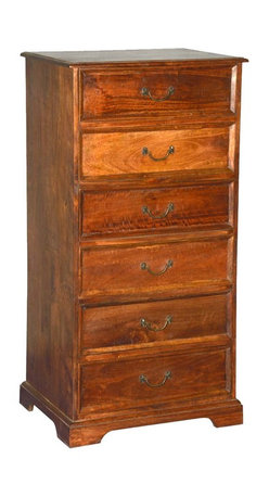 Sierra Living Concepts - Sante Fe Reclaimed Wood 6 Drawer Tall Dresser - Celebrate classic style and superior craftsmanship with our Sante Fe 6 Drawer Dresser. This solid hardwood chest of drawers has Shaker style simplicity and traditional artisan quality.