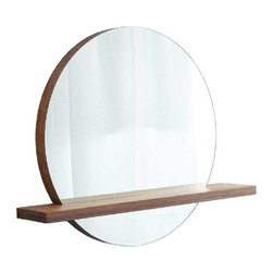 "Native Trails - Native Trails 22"" Solace Mirror Shelf in Woven Strand - *Handcrafted solid Woven Strand bamboo"