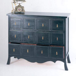 Wayborn - 3 Asian Storage Chest W/ 3 Drawers - 3 Asian Storage Chest W/ 3 Drawers
