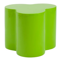 Eurostyle - Eurostyle Sloan Accent Stool in High Gloss Green - If you tried to turn a Rubic's Cube into a set of stools they might look something like this. Clustered together they make a great, modern splash of color. Separately, they're three cylindrical columns gracefully molded into a singular high gloss fiberglass seat. What's included: Decorative Stool (1).