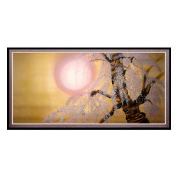 Oriental Furniture - Sakura Blossoms Canvas Wall Art - This wall art depicts a blossoming cherry tree, an enduring symbol of Japan that has featured prominently in its art and literature for over a thousand years. Cherry trees blossom for less than two weeks each year in a breathtakingly beautiful event that is eagerly awaited around the world. This canvas print captures that fleeting moment by depicting a lone cherry tree, boughs sagging under the weight of the flowers, under the springtime sun. A wonderful accent piece and a thoughtful gift, this artwork will bring the ethereal beauty of the cherry blossom to your home or business.