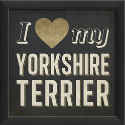 """I Heart My Yorkshire Terrier"" Print"