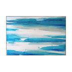 Abstract Painting Large Original -- Minimalist - Blues, Acrylic on Canvas - Large Abstract Painting - Minimalist - Blues
