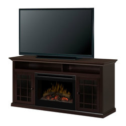 Dimplex - Dimplex Hazelwood Electric Fireplace Media Console Multicolor - GDS25-1388DR - Shop for Fire Places Wood Stoves and Hardware from Hayneedle.com! The Dimplex Hazelwood Electric Fireplace Media Console offers the ultimate in media consoles. This console with electric fireplace is designed for flat screen TVs up to 60 inches and has extra room for a sound bar in the open top storage. The fireplace is remote-operated and remains cool to the touch. Its generous storage space and rich traditional style are sure to impress family and guests.About DimplexDimplex North America Limited is the world leader in electric heating offering a wide range of residential commercial and industrial products. The company's commitment to innovation has fostered outstanding product development and design excellence. Recent innovations include the patented electric flame technology - the company made history in the fireplace industry when it developed and produced the first electric fireplace with a truly realistic wood burning flame effect in 1995. The company has since been granted 87 patents covering various areas of electric flame technology and 37 more are pending. Dimplex is a green choice because its products do not produce carbon monoxide or emissions.