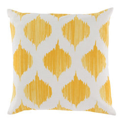 Lemon Drop Pillow - Bring this sweet geometric pillow with you outside for an evening cocktail and stare at the stars. Then cuddle up with it at night for sweet dreams.