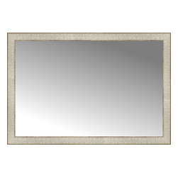 """Posters 2 Prints, LLC - 38"""" x 26"""" Libretto Antique Silver Custom Framed Mirror - 38"""" x 26"""" Custom Framed Mirror made by Posters 2 Prints. Standard glass with unrivaled selection of crafted mirror frames.  Protected with category II safety backing to keep glass fragments together should the mirror be accidentally broken.  Safe arrival guaranteed.  Made in the United States of America"""