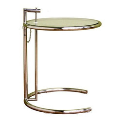Wholesale Interiors Eileen Gray Stainless Steel Accent Table - Add a fresh, contemporary touch to your living room furniture collection