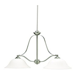 Kichler - Kichler 3882NI Island 2 Light Incandescent in Brushed Nickel - Technical Specs: