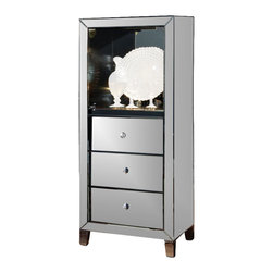 Standard Furniture - Standard Furniture Plaza Curio in Smoked Mirror - Standard Furniture - Curio Cabinets - 19813 - About This Product: