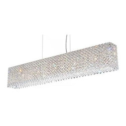 Schonbek - Refrax 11-lt Rectangular Crystal Chandelier - Refrax 11-lt Rectangular Crystal Chandelier