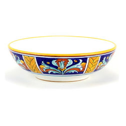 Artistica - Hand Made in Italy - EXCELSIOR: Large Serving Pasta Bowl - Excelsior Deruta Dinnerware: