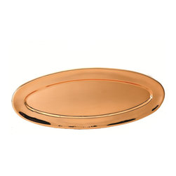 Old Dutch International - Heavy Gauge Oval Décor Copper Tray - Talk about a pretty penny! You'll serve with style at your next party with this gleaming heavy gauge copper tray. And its clear, tarnish-resistant finish means it'll look this grand for a good long time.