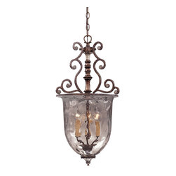 Savoy House - Savoy House St. Laurence Pendant Lighting Fixture - Shown in picture: Family is fashioned of new tortoise shell and silver finish with Clear Watered Glass