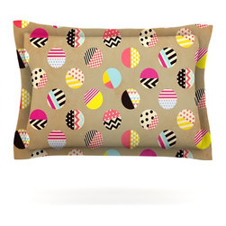 """Kess InHouse - Louise Machado """"Fun Circle"""" Brown Geometric Pillow Sham (Cotton, 40"""" x 20"""") - Pairing your already chic duvet cover with playful pillow shams is the perfect way to tie your bedroom together. There are endless possibilities to feed your artistic palette with these imaginative pillow shams. It will looks so elegant you won't want ruin the masterpiece you have created when you go to bed. Not only are these pillow shams nice to look at they are also made from a high quality cotton blend. They are so soft that they will elevate your sleep up to level that is beyond Cloud 9. We always print our goods with the highest quality printing process in order to maintain the integrity of the art that you are adeptly displaying. This means that you won't have to worry about your art fading or your sham loosing it's freshness."""