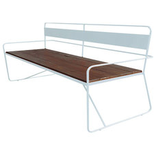Contemporary Outdoor Stools And Benches by haskell