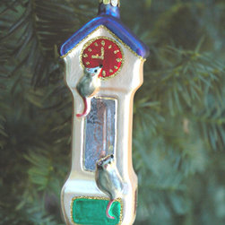 """Grandfather Clock Ornament - 5"""" tall x 2"""" wide"""