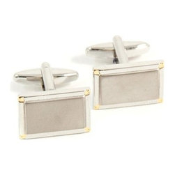 Bey-Berk Rhodium and Gold Plated Rectangular Cufflinks - These Bey-Berk Rhodium and Gold Plated Rectangular Cufflinks are a suave match for wardrobes of spring and autumnal colors, and accessories such as watches and chains. Made from durable rhodium with gold-plated trim, they offer eye-catching shape and style for personal or professional occasions.About Bey-Berk InternationalFor more than 20 years, Bey-Berk International has crafted and hand-selected unique gifts and accessories from around the world to meet the demands of discerning customers. With its line of elegant and distinctive products, Bey-Berk has established itself as a leader in luxury accessories for both home and office.