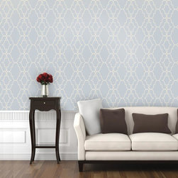 "Double Trellis Wallpaper 9.5'feet - ""Swag Paper - Empowering the Do-It-Yourselfer:"
