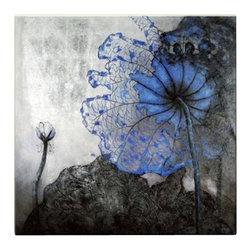 Matthew's Art Gallery - Oil Painting on Canvas Modern Flower Blue Velvet - The Painting:  Blue Velvet
