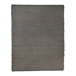 Anji Mountain - 5' x 8' Portland Gray Jute Rug - Jute brings a magnificent, chunky texture to any space. These rugs are expertly handloom-woven by skilled weavers who employ a variety of traditional techniques to create these simply beautiful styles. Jute fibers exhibit naturally anti-static, insulating and moisture regulating properties. It is predominantly farmed by approximately four million small farmers in India and Bangladesh and supports hundreds of thousands of workers in jute manufacturing (from raw material to yarn and finished products).