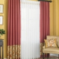 Pattern Fabric Seamed on Curtains & Draperies of Indianapolis- Custom Styles at - This is a picture of our pleated curtains that have a pattern fabric seamed on the bottom.  We can create any style and pleat that you want!