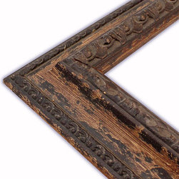 The Frame Guys - Genoa Aged Brown Picture Frame-Solid Wood, 8.5x11 - *Genoa Aged Brown Picture Frame-Solid Wood, 8.5x11